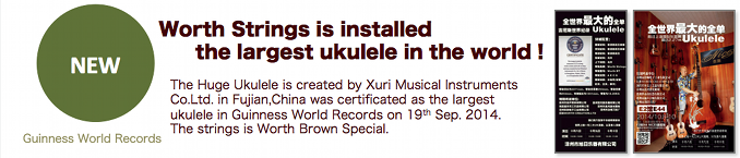 Worth Strings is installed the largest ukulele in the world!