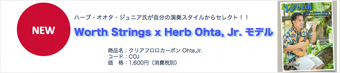 Worth Strings x Herb Ohta,Jr.モデル